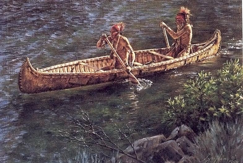 как называются лодки у индейцев