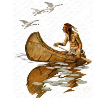 чем индейцы пропитывали лодки индейцы