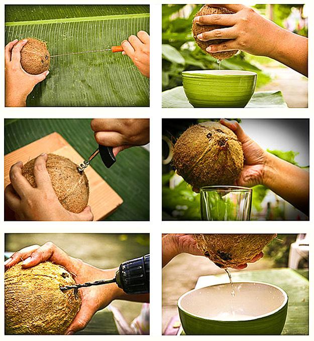 Как кушать кокос в домашних условиях